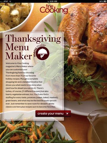 thanksgiving menu maker