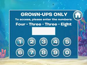 grown up menu in finding dory app