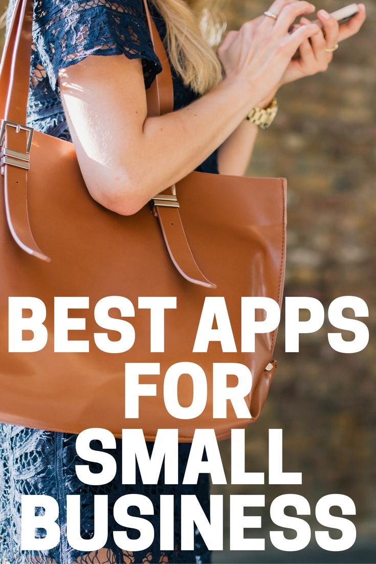 best small business apps girl on phone carrying bag