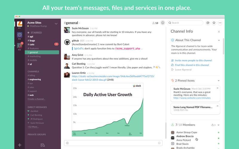 slack screen shot team messages files
