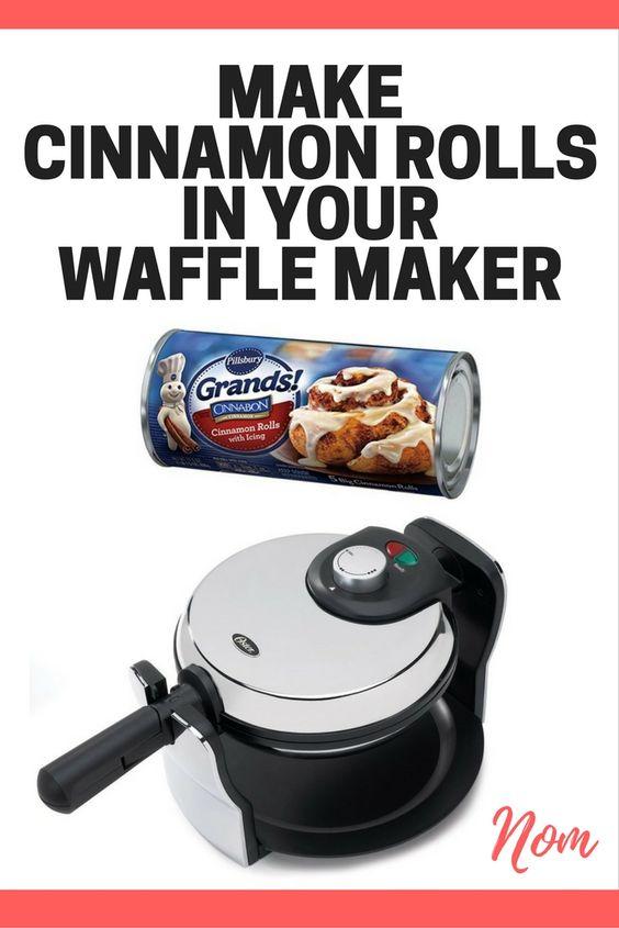 pillsbury cinnamon roll waffle maker cinnamon roll waffles pinterest