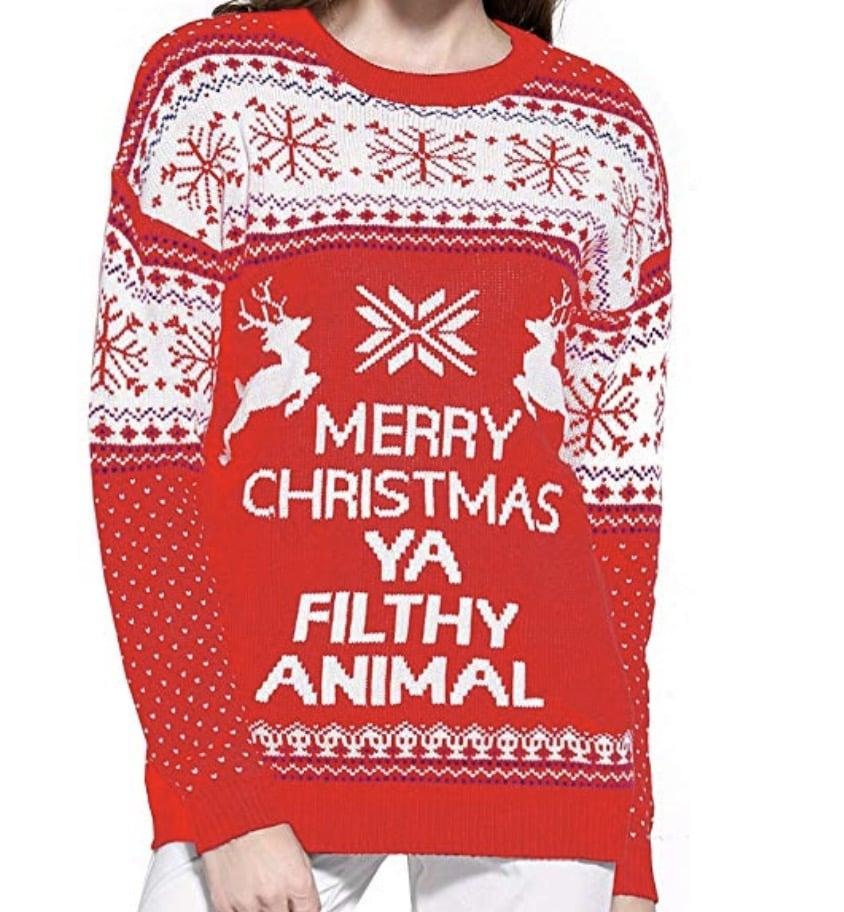 filthy animal christmas sweater