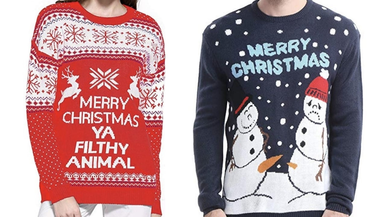 Funny Christmas Sweater.Ugly Christmas Sweaters Inappropriate Christmas Sweaters