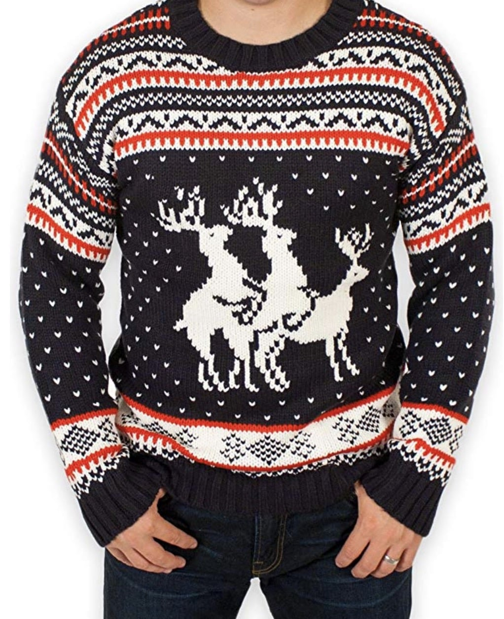 inappropriate christmas sweater reindeer humping
