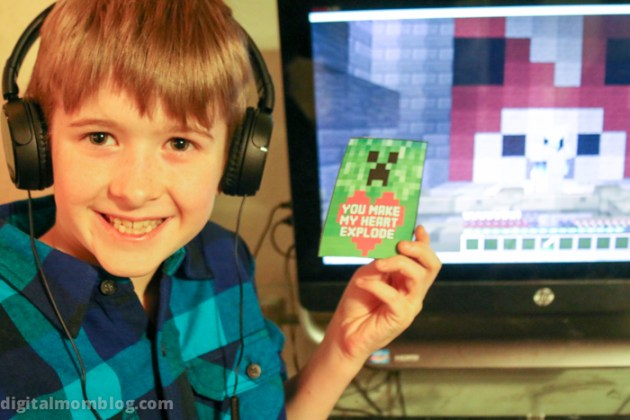 Free Minecraft Valentines Day Cards Print At Home