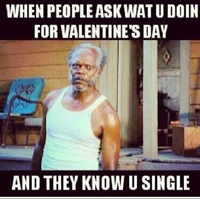 When people ask what you doing for valentine's day - funny valentines day memes