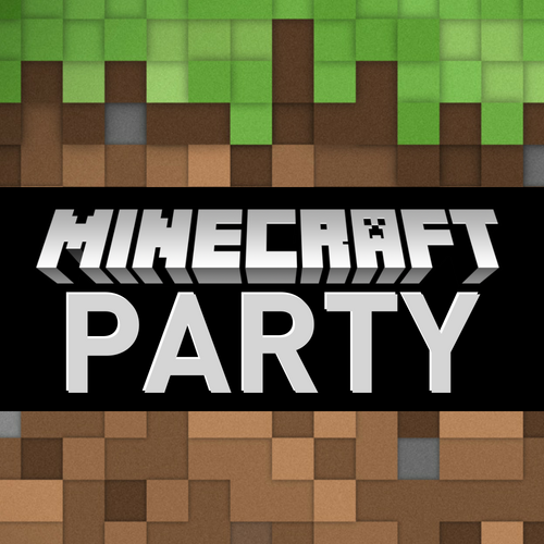 Free Minecraft Evite - vertical invitation