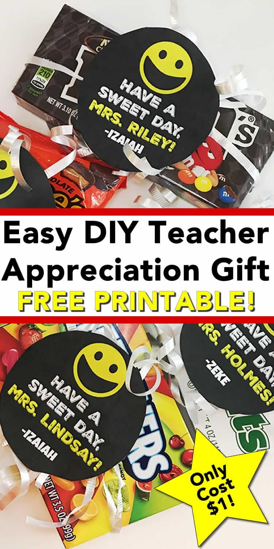 Easy DIY Teacher Appreciation Gifts