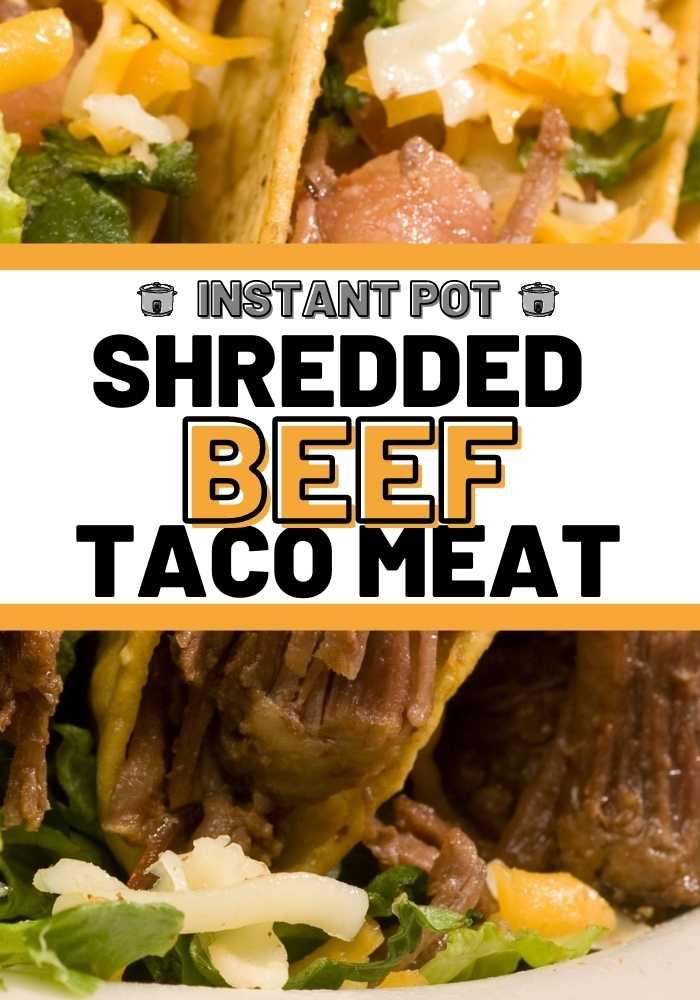 instant pot beef taco meat mexican recipes