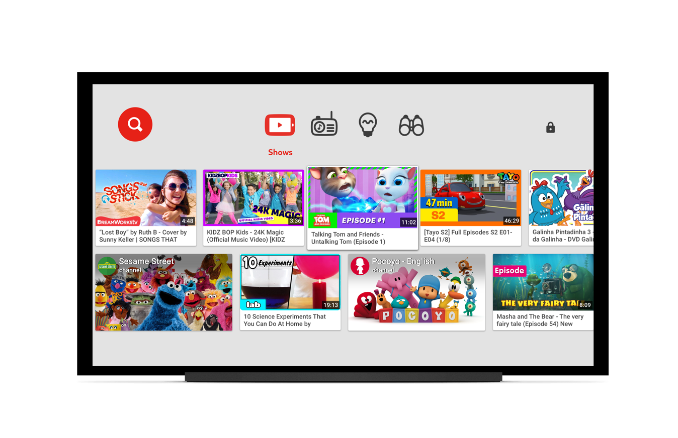 YouTube Kids on Smart TVS