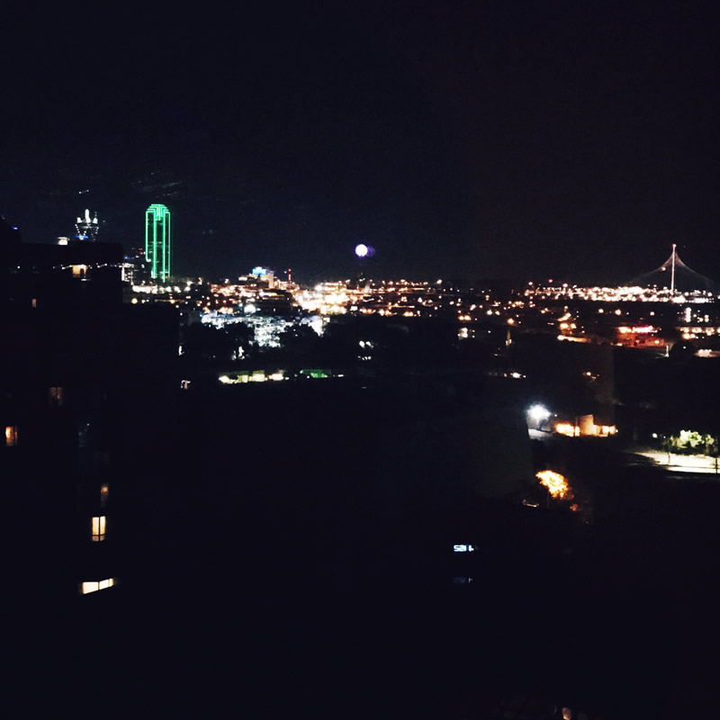 Dallas Skyline from the Hilton Anatole Dallas