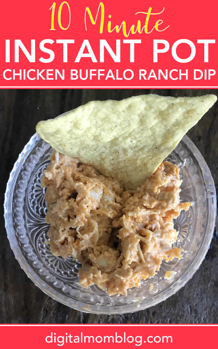 instant pot buffalo chicken dip recipe