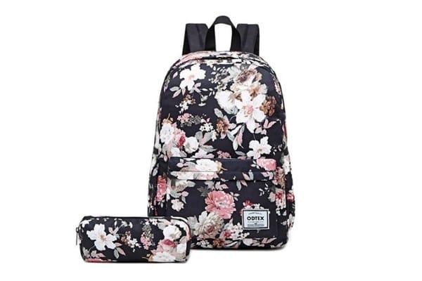 floral laptop backpack water resistant