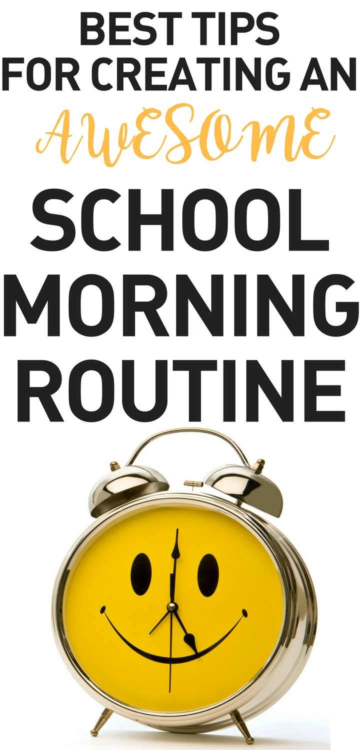 Creating a School Morning Routine for school kids