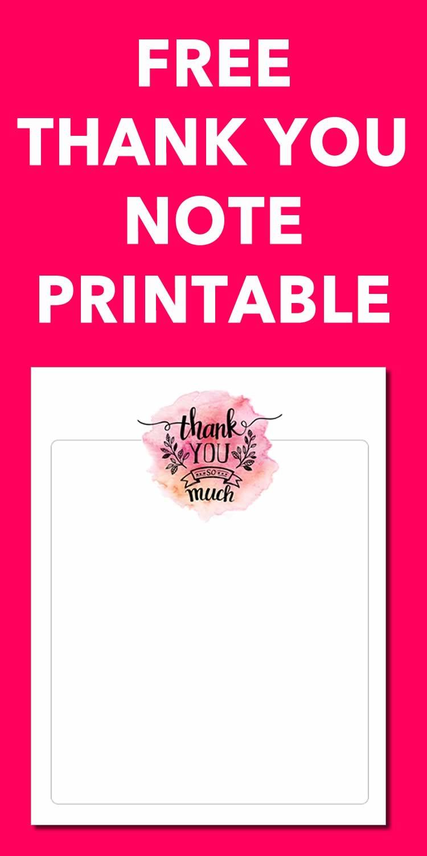 free thank you printable