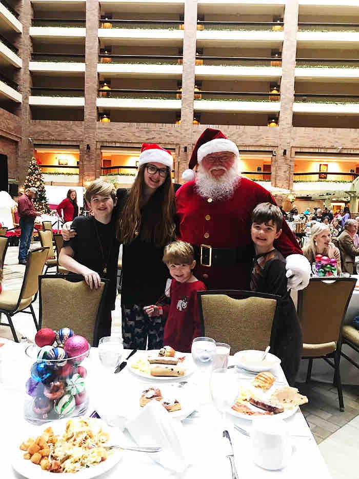 Breakfast with Santa Dallas, TX Hilton Anatole Christmas