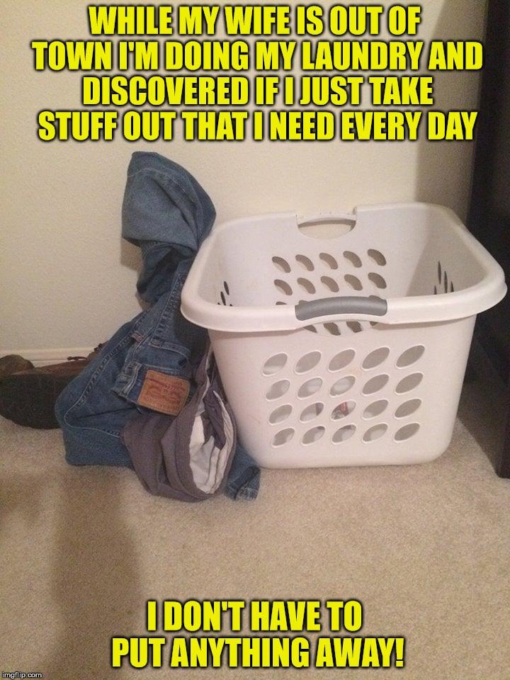 husband doing laundry meme