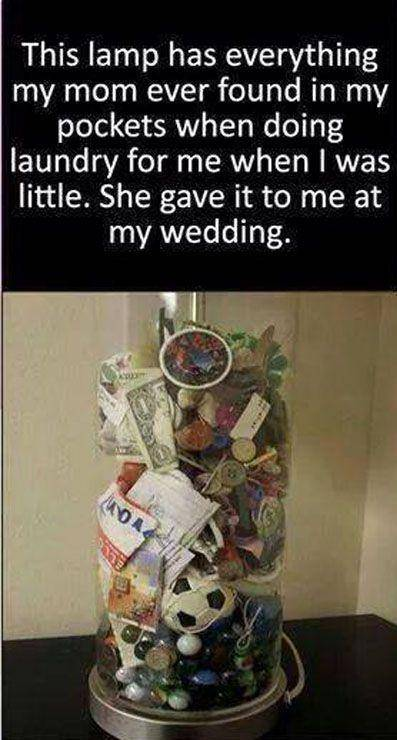 jar filled with everything from pockets when mom was doing laundry best wedding gift idea - Laundry Meme