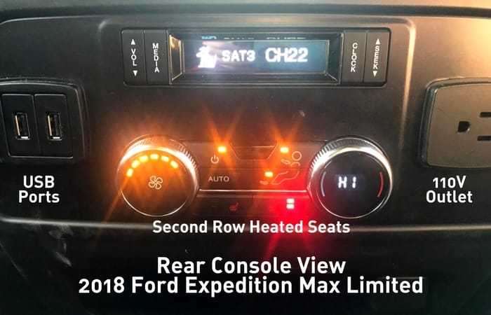 second row heated seats expedition