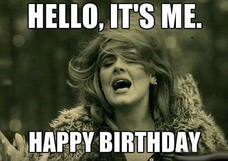 adele birthday meme