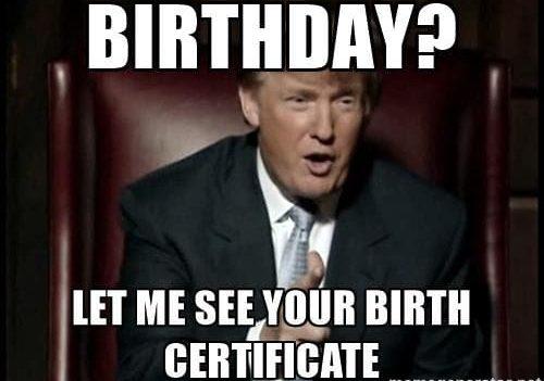 Birth Certificate Trump