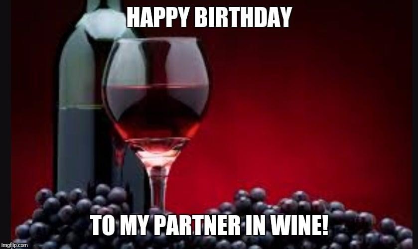 birthday partner in wine