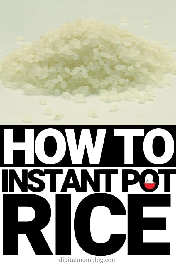 rice instant pot