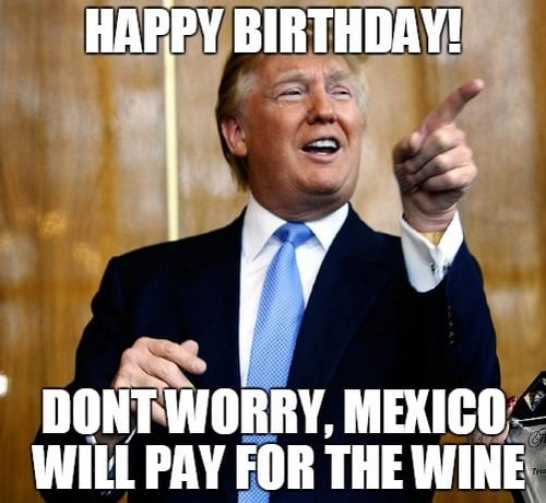 mexico pay for the wine trump meme