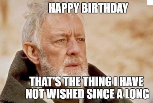 Star Wars old guy happy birthday