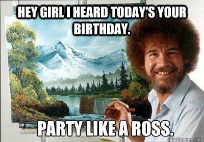 party like bob ross