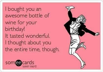 wine birthday meme