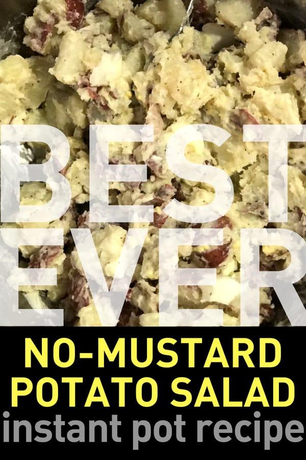 No Mustard Potato Salad Instant Pot Recipe