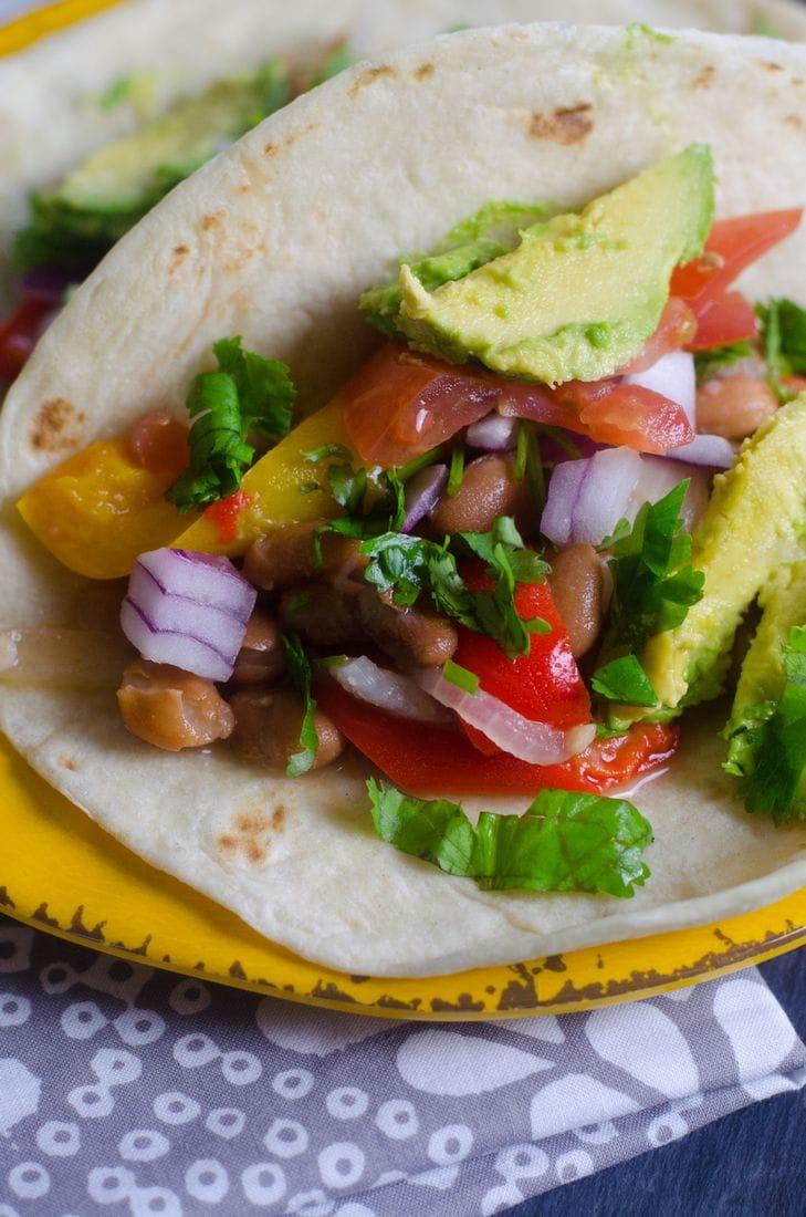 bean vegan taco instant pot