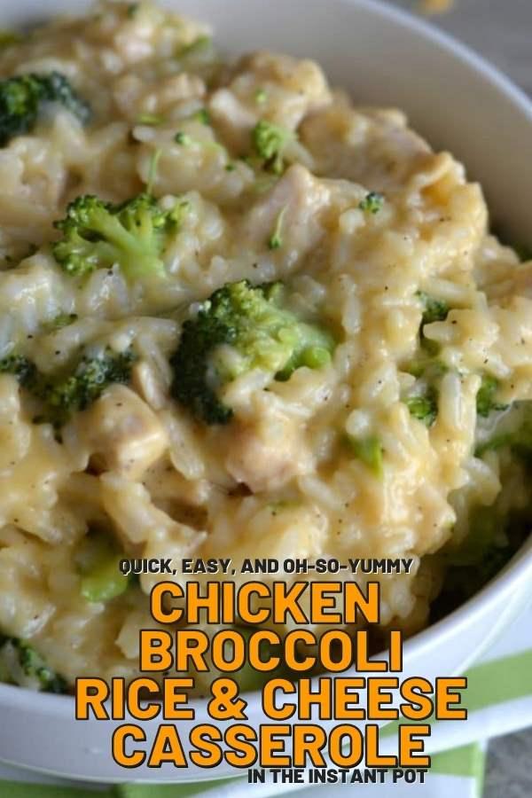 chicken broccoli casserole recipe instant pot