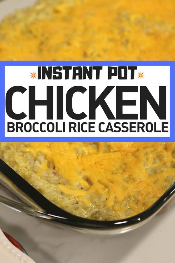 Instant Pot Chicken Broccoli Rice Casserole with chicken breast