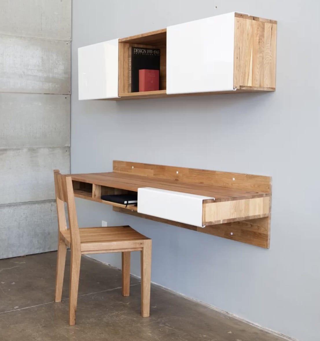floating wall desk