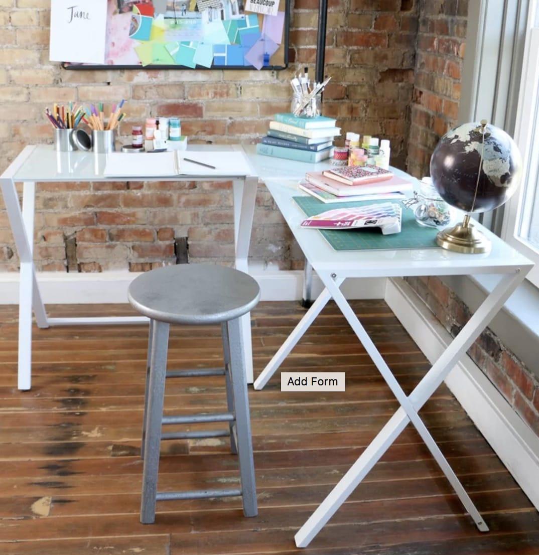 modern glass lshaped desks