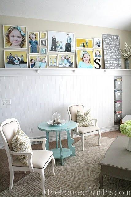 Half Wall with Photos