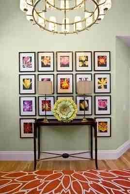 Neatly Organized Photo Wall