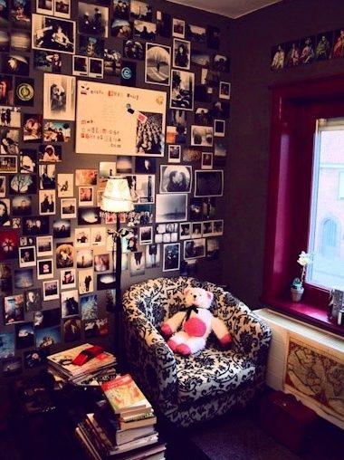wall collage idea photos