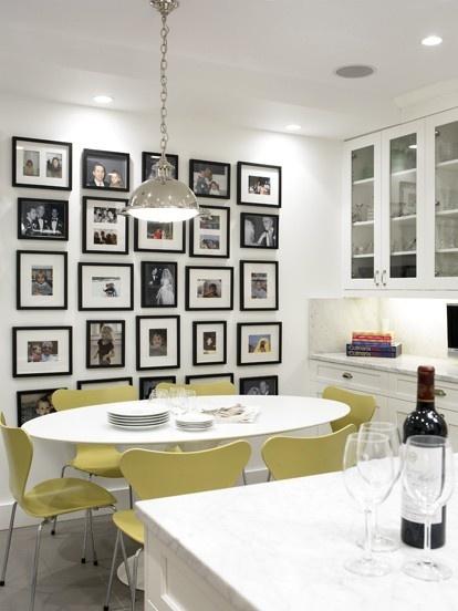 Organized Photo Wall in Kitchen
