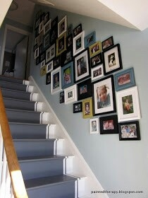 Cluster Wall Gallery in Stairwell