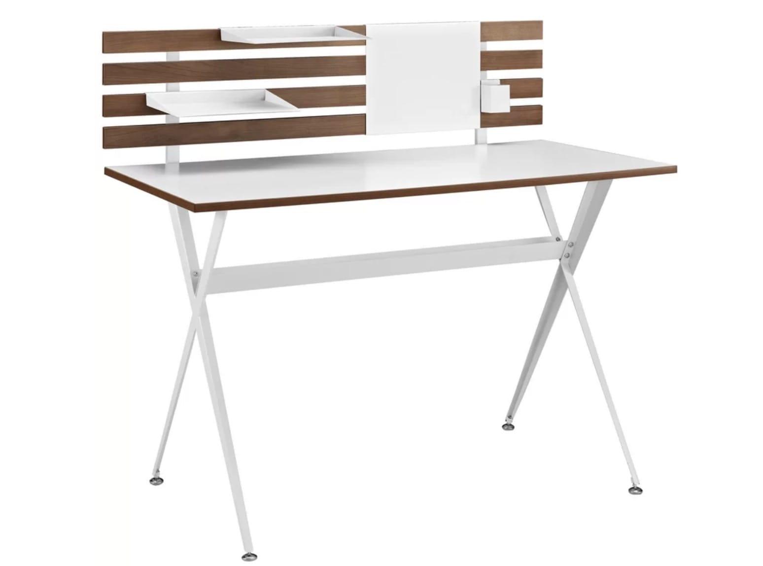modern white writing desk