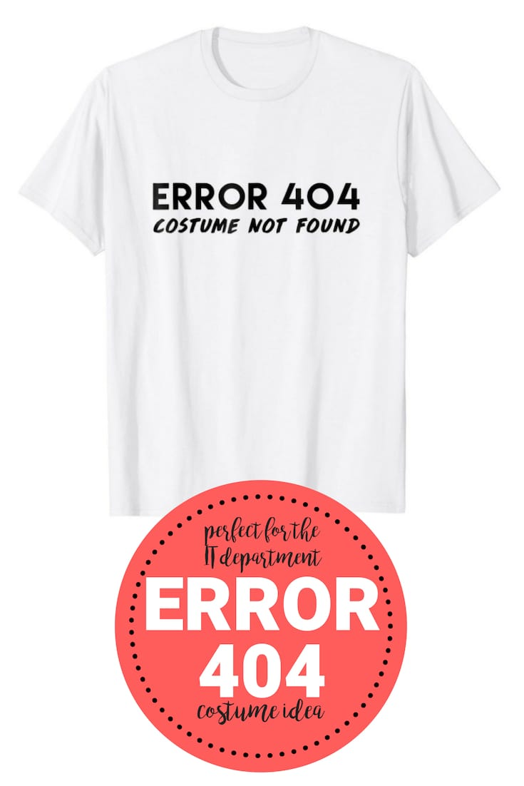 error 404 it costume shirt