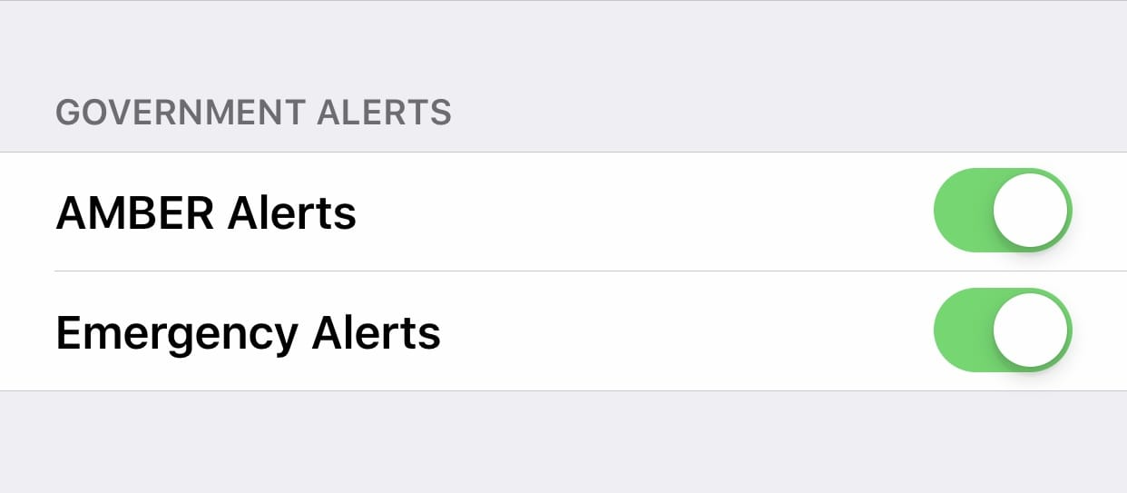 government alerts - amber alert - emergency alerts - presidential alerts