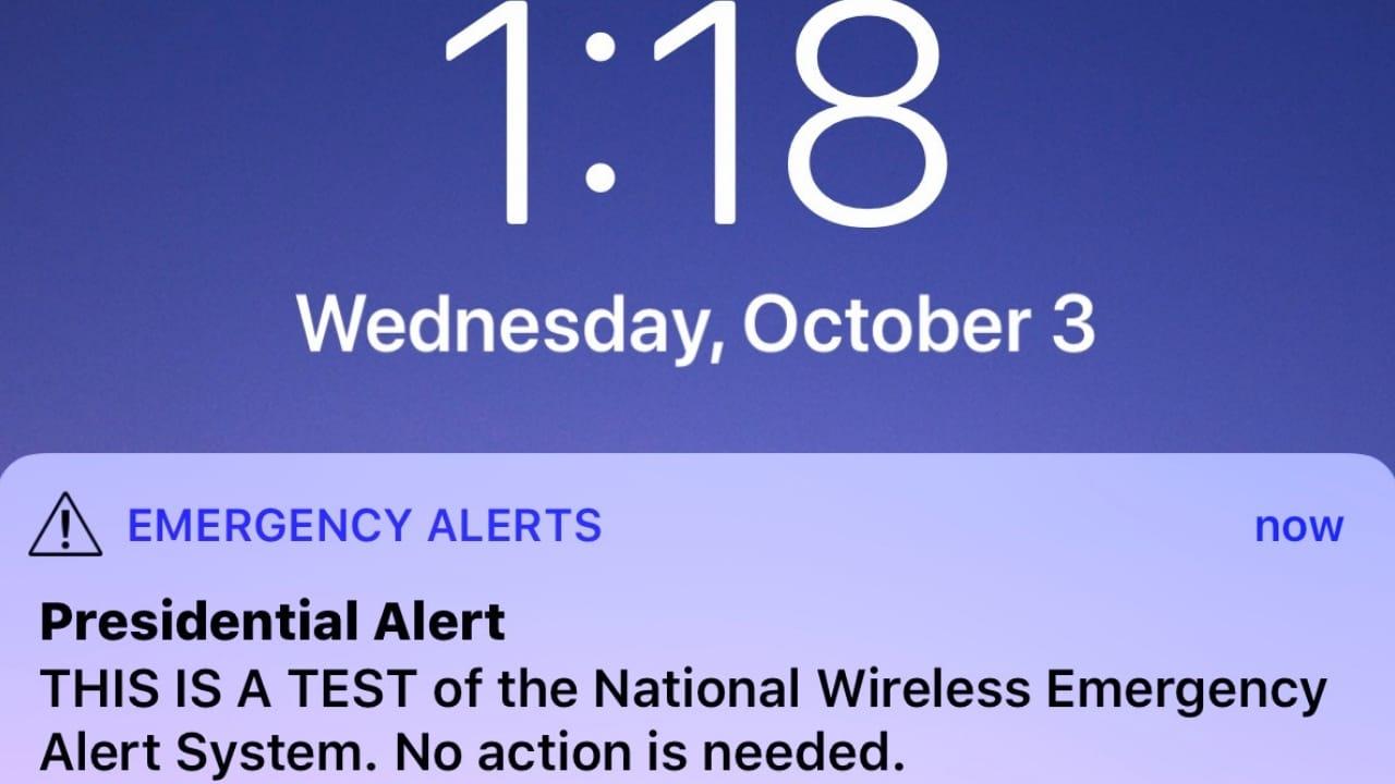 presidential alert system 101
