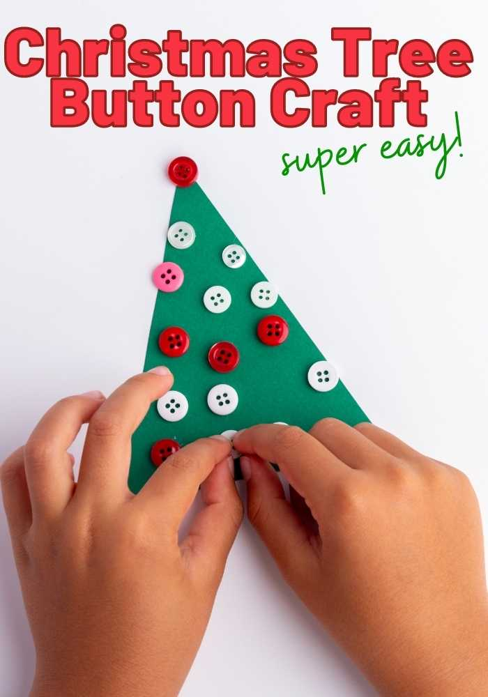 Christmas Tree Button Christmas Craft for toddlers