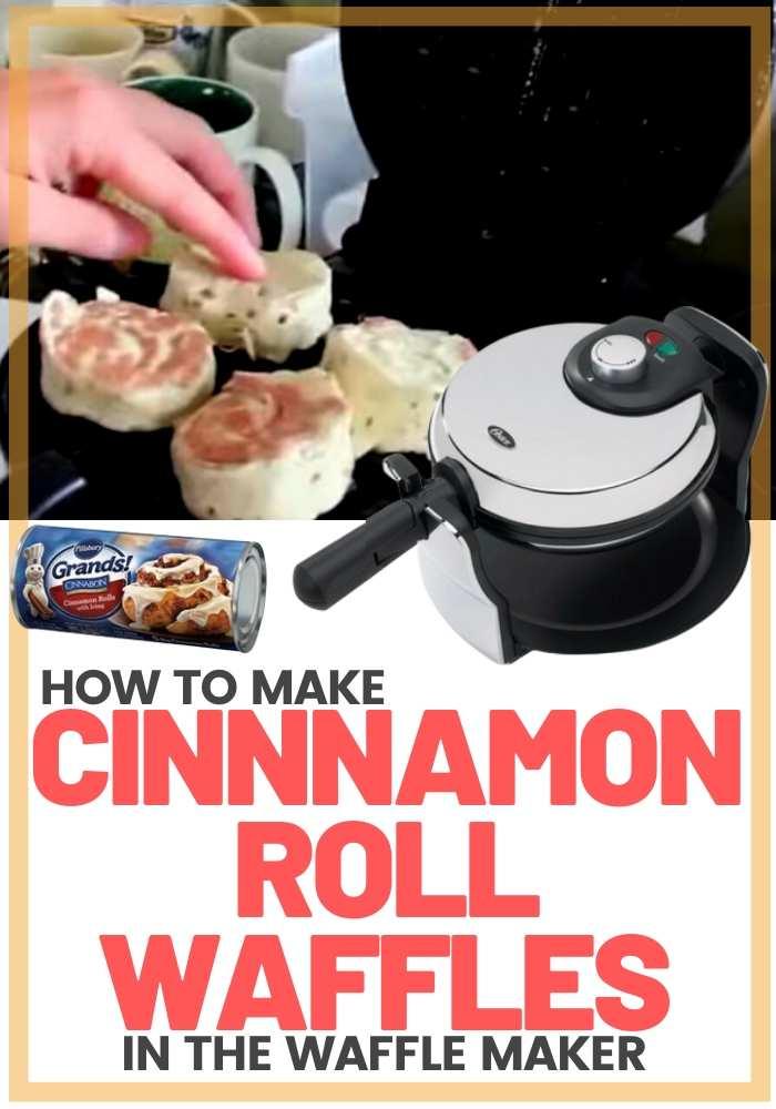 cinnamon roll in waffle maker