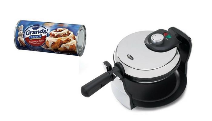 cinnamon roll waffles waffle maker