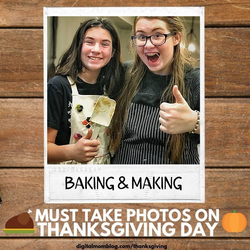 photos of baking thanksgiving dinner